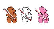 Free Three Teddy-bears Vector. Royalty Free Stock Photography - 5411547