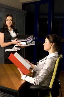 Free Two Woman Working Stock Photography - 5411922