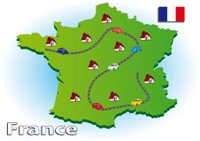 Traveling In France Royalty Free Stock Photo