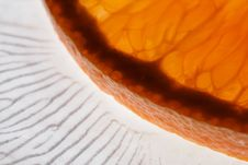 Free Orange On A Glass Plate Stock Photography - 5413192