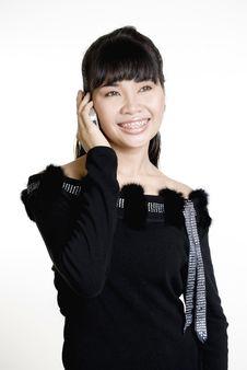 Free Asian Woman Using Mobile Phone Stock Photos - 5413283
