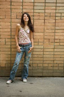 Free The Girl In Jeans Stock Photos - 5413523