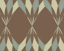 Distorted Argyle Border Royalty Free Stock Image