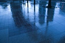 Free Blue Rain 2 Stock Photography - 5414172