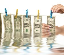 Free Hands And Dollars Stock Photos - 5414453
