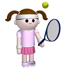 Free Girl Playing Tennis Stock Images - 5415294