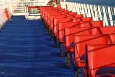 Free Red Chairs Royalty Free Stock Photo - 5415465