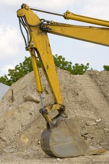 Hydrologic Cylinders On A Backhoe Stock Photo
