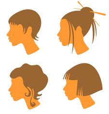 Free Four Female Heads Royalty Free Stock Image - 5417846