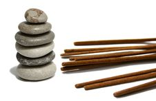 Free Soft Color Stones And Incense Bars Royalty Free Stock Photos - 5418018