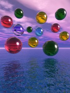 Free Water Balls Royalty Free Stock Photo - 5418145