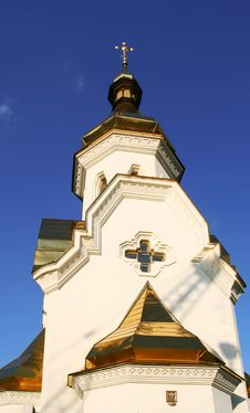 Free Small Church On Dniepr River Stock Images - 5418324