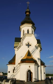 Free Small Church On Dniepr River Royalty Free Stock Photo - 5418395