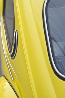 Free Yellow Vintage German Car Royalty Free Stock Photos - 5418488