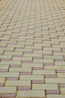 Free Road From A Tile Royalty Free Stock Photography - 5418747