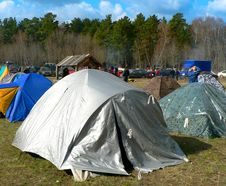 Free Bright Tent In The Forrest Royalty Free Stock Photo - 5419185