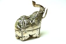 Free Elephant Silver Box Stock Photo - 5419250