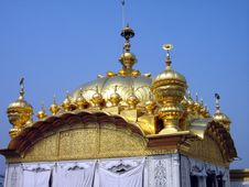 Free Golden Temple Dome Stock Photography - 5419912