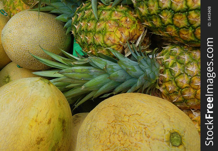 Cantaloupes and Pineapples