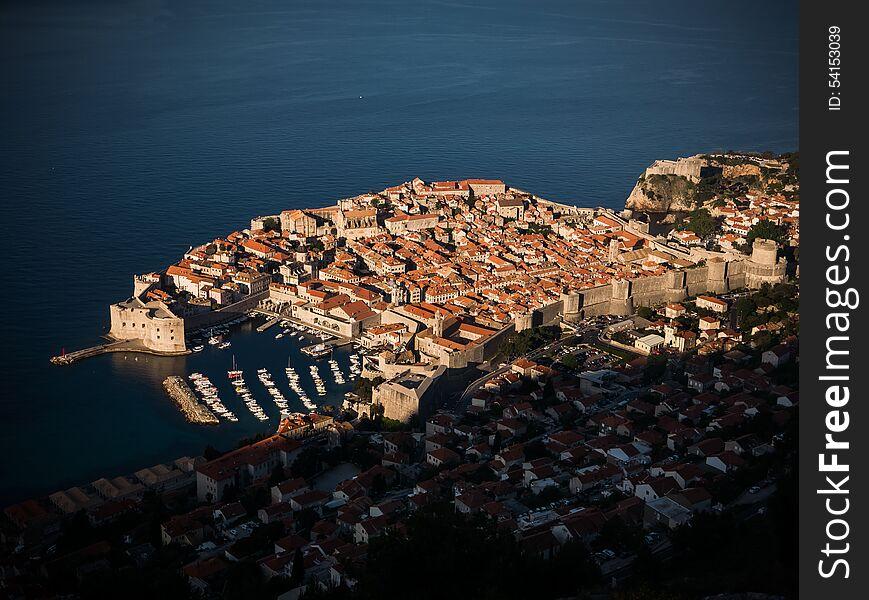 Sunrise over Old Town Dubrovnik