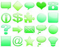 Free Green Tones Glossy Icon Set 101 Royalty Free Stock Image - 5425876
