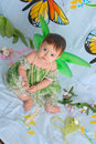 Free Baby Girl With Butterfly Wings Royalty Free Stock Photography - 5426137