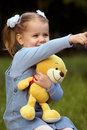 Free Nice Little Girl With Teddy Bear Stock Images - 5428114