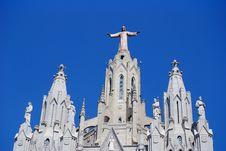 Tibidabo Church, Barcelona Spain Royalty Free Stock Image