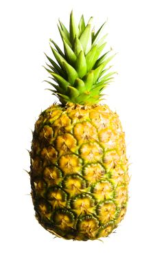 Free Pineapple On White Royalty Free Stock Images - 5420199