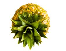 Free Pineapple On White Royalty Free Stock Photography - 5420207