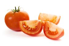 Free Tomatoes On White Royalty Free Stock Images - 5420369