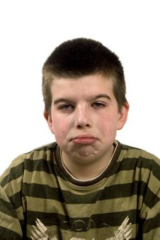 Free Boy Is Looking Sad Royalty Free Stock Images - 5420659