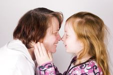 Free Grandmother And Grandchild Face To Face Stock Photography - 5420722