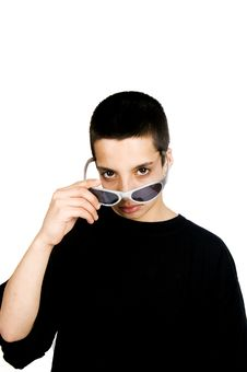 Free Teenage Boy With Sunglasses Royalty Free Stock Image - 5420736