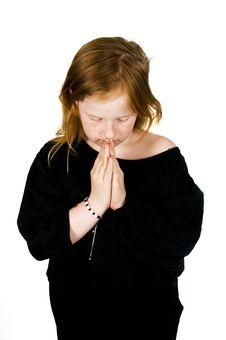 Free Little Girl Praying Stock Images - 5420754