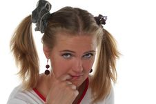 Free Naughty Blond Girl Stock Photos - 5421003
