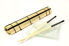 Free Japanese Chopsticks Set Royalty Free Stock Images - 5421389