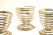 Free Metal Egg Cups Stock Photography - 5421392