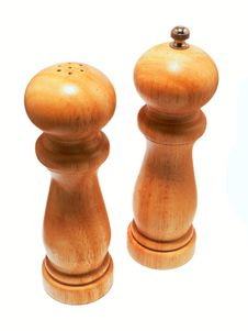 Salt And Pepper Wooden Shaker Stock Images