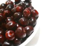 Free Sweet Cherries In Plate Royalty Free Stock Photo - 5421615