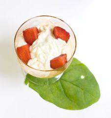 Free Strawberry Dessert Isolated On White Royalty Free Stock Photos - 5421718