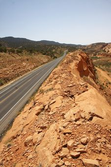 Free Road Through Anasazi Canyon Arizona Royalty Free Stock Photography - 5422127