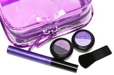 Free Violet Set For Make-up Stock Image - 5422861