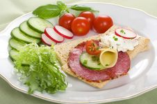 Free Dietetic Sandwich Stock Photos - 5422923