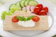 Free Dietetic Sandwich Royalty Free Stock Photo - 5422945