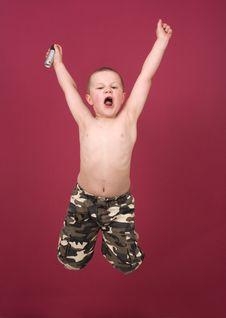Free Jumping Boy Stock Photos - 5422973