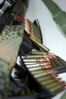 Free Military Rifle And Ammunition Stock Photo - 5423200
