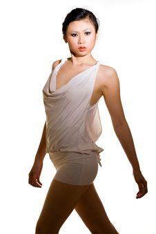 Free Asian Woman In White Short Dress Royalty Free Stock Photos - 5423448