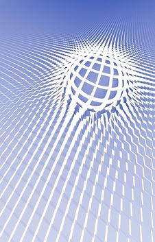 Free Bllue Net Sphere Background Royalty Free Stock Photos - 5423758
