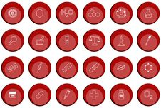 Chemistry Buttons Stock Photography